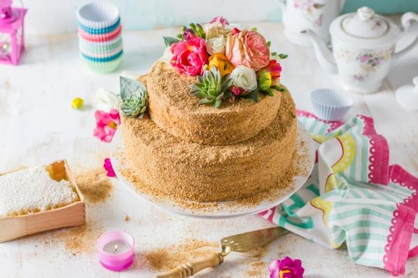 honey cake food styling and photography Amalija Andersone photography